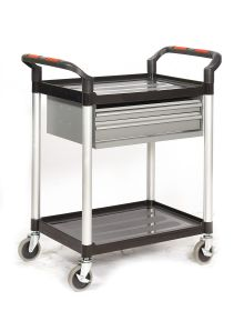 3 Shelf Trolleys with 2 Steel Drawers